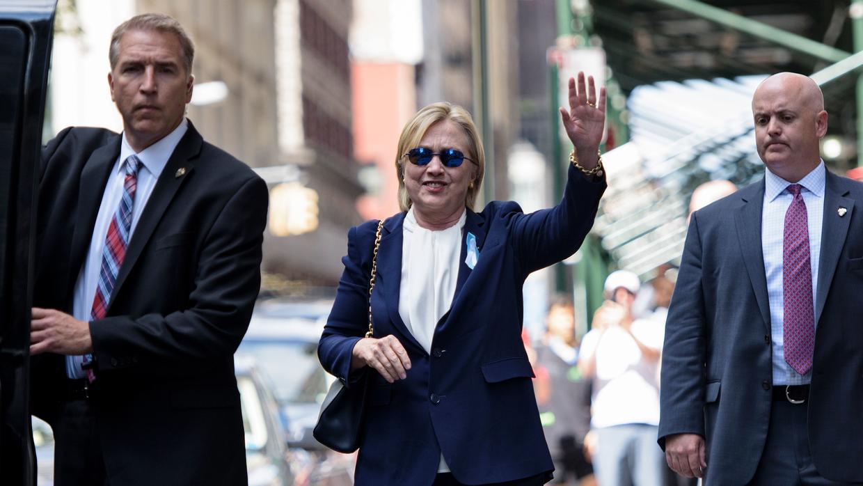 Hillary el día de su desmayo