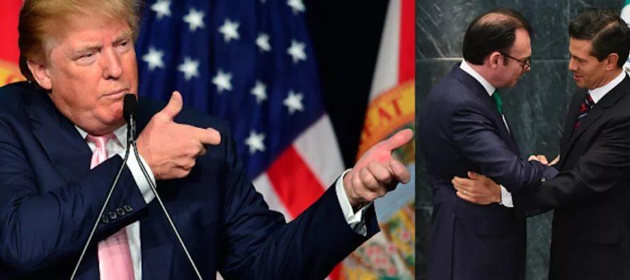 Trump celebra la renuncia de Videgaray causada por su visita a México