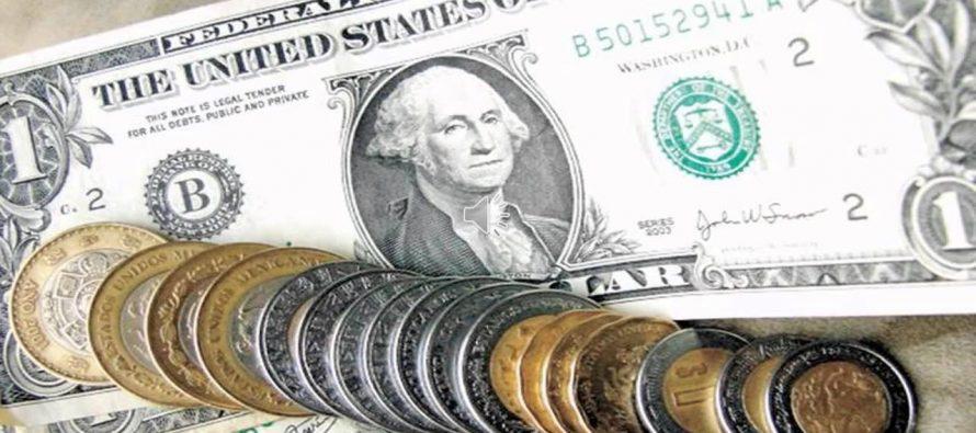 El dólar llega hasta los 20.17 pesos en ventanillas bancarias