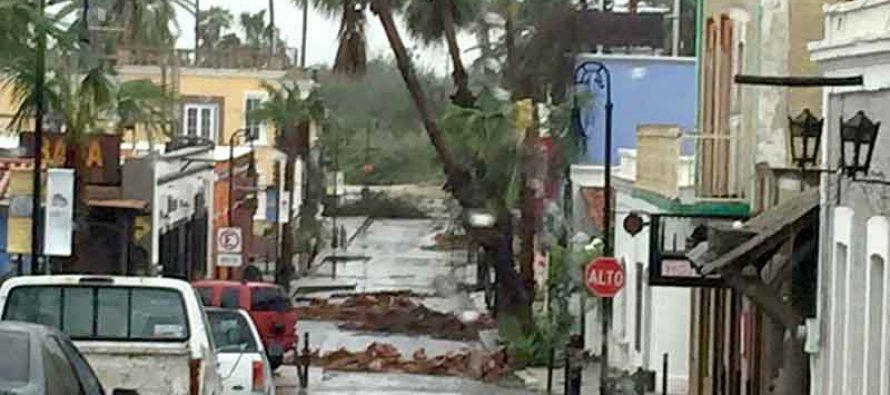 Más de 500 personas incomunicadas en BCS por el huracán Newton