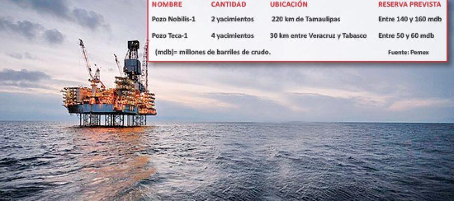 Encuentra Pemex seis yacimientos petroleros en aguas del Golfo de México