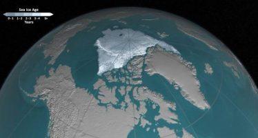 Publica la NASA video que muestra derretimiento de hielo del Ártico