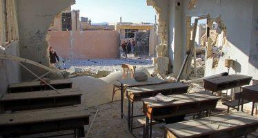 Rusia afirma con imágenes que no bombardeó una escuela en Idlib, Siria