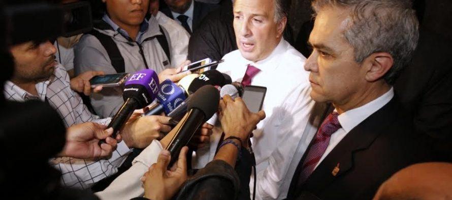 Si se frena la economía de la CDMX, se frena la economía del país: Mancera a Meade