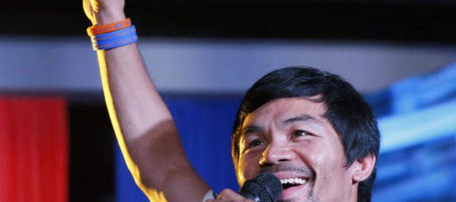 Pac Man hace pausa en la política y regresa a boxear