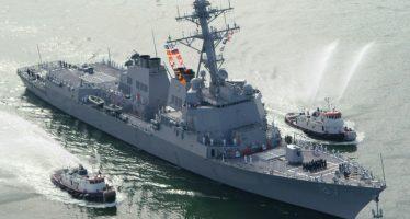 Lanzan dos misiles desde Yemen contra barco de EU; se hunden en el mar