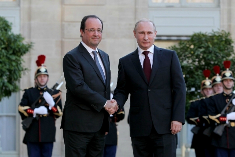 Hollande y Putin en Moscú en noviembre de 2015