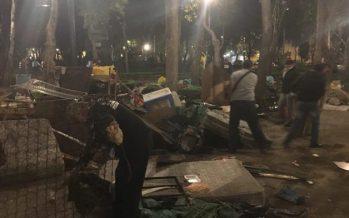En operativo, SSP desaloja a vendedores ambulantes e indigentes de La Ciudadela