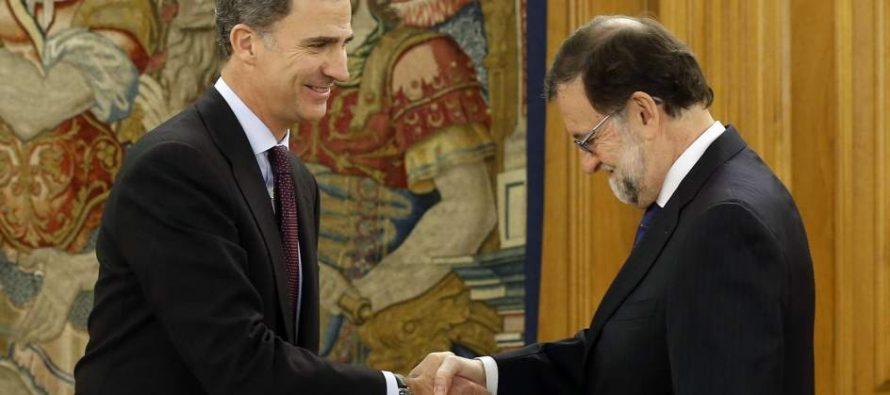 Rajoy acepta petición de Felipe VI para ser investido presidente de gobierno