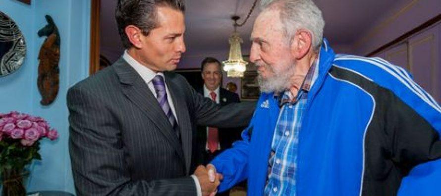 """Castro impulsó """"relación de diálogo y solidaridad"""" con México, dice EPN en Twitter"""