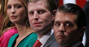 Tres hijos de Trump formarán parte de su equipo de transición