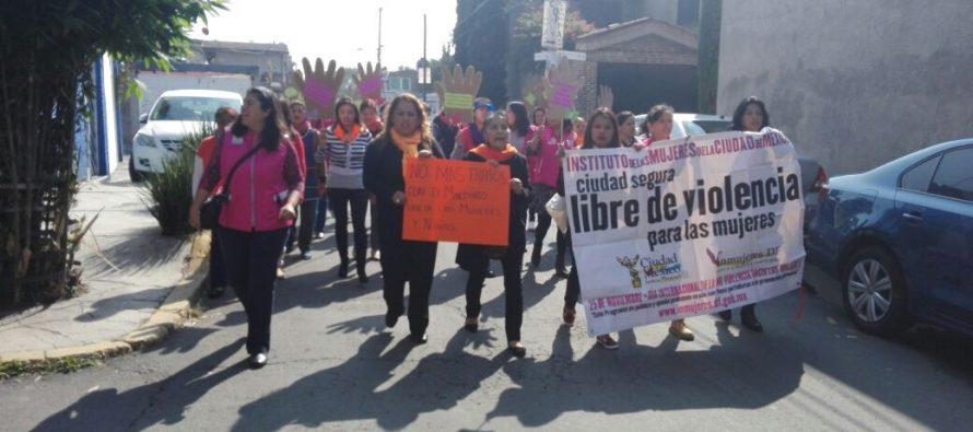 Xochimilco realiza su campaña para erradicar la violencia hacia la mujer