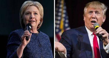Tras superar incidente del FBI, Clinton repunta en el día de las elecciones en EU