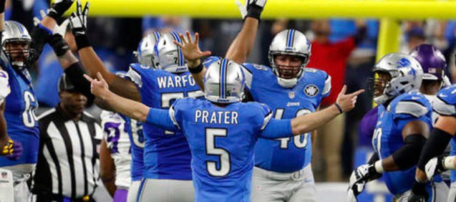 Detroit se impone a Vikingos 16-13 y encabeza la División Norte de la NFL