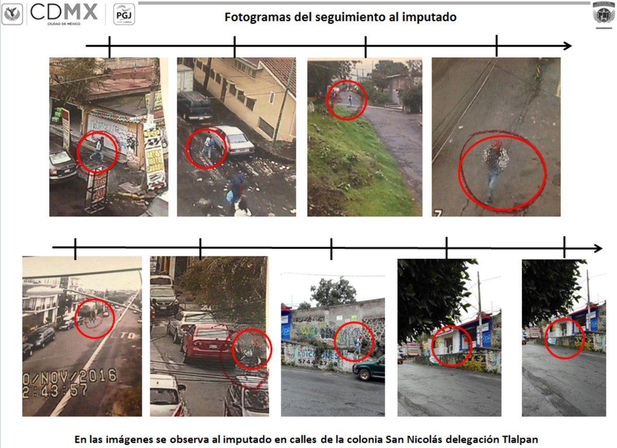 Seguimiento, mediante cámaras de vigilancia, al violador de Tlalpan