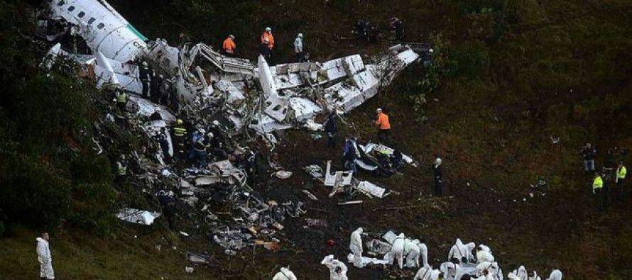 Tragedia en fútbol de Brasil: se estrella avión donde viajaba el Chapecoense; fallecen 75