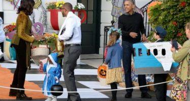 Los Obama celebran su último Halloween en la Casa Blanca