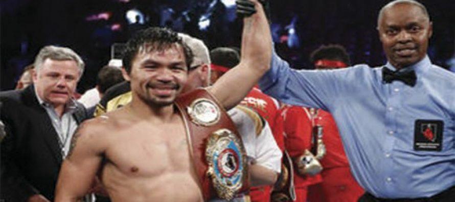 Pacquiao derrota por decisión unánime a Jessie Vargas