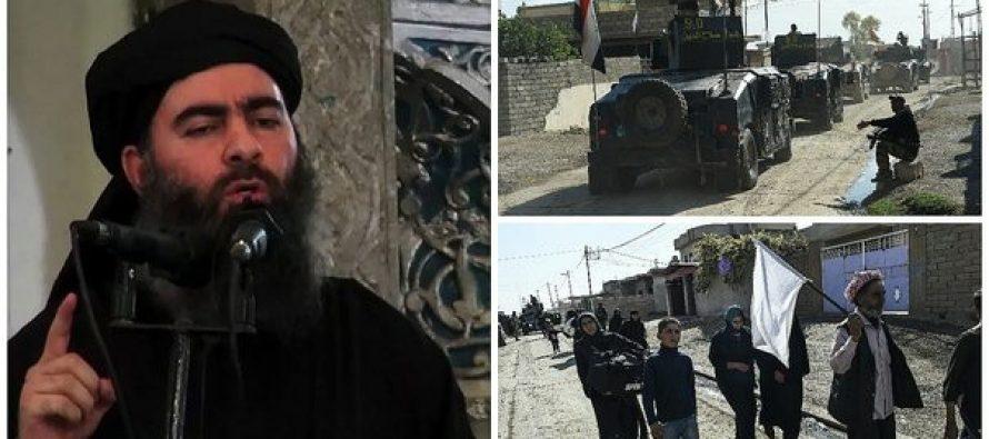 """Líder del EI pide a yihadistas """"luchar con honor"""" hasta el fin, en Mosul"""