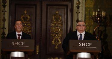 Meade y Carstens anuncian medidas para defender el peso y mantener estabilidad