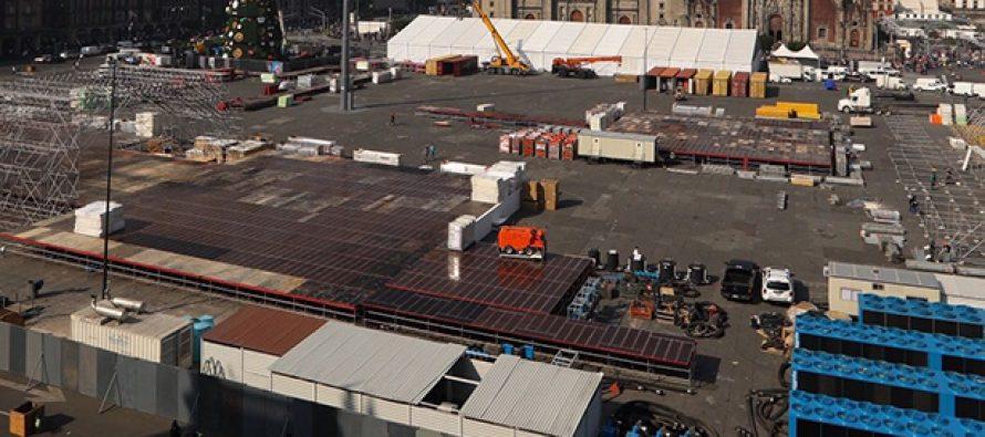 Gobierno de la CDMX alista cuatro pistas de hielo en el Zócalo capitalino