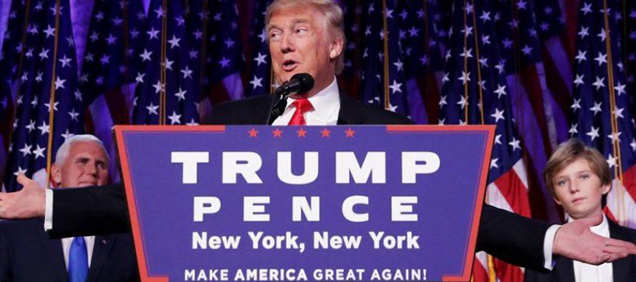 """""""Seré el presidente de todos"""", dice Trump en primera comparecencia luego de ganar"""