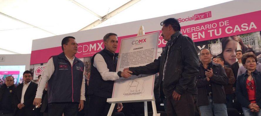 En 2017 se habrán escriturado 100 mil viviendas, anuncia gobierno de la CDMX