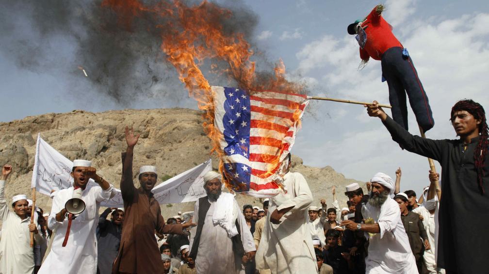 Afganos protestan contra Estados Unidos