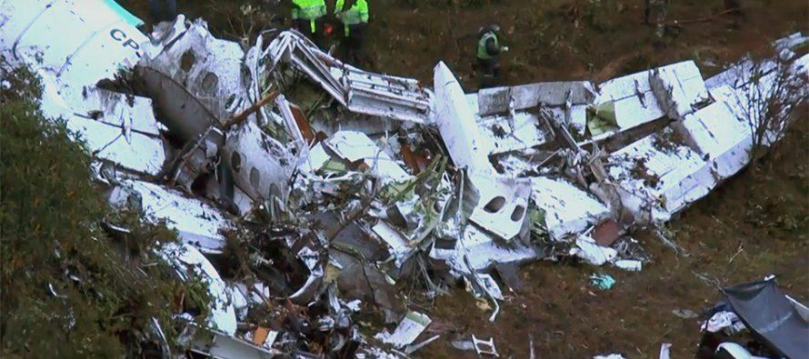 Combustible insuficiente, en el avión estrellado con el Chapecoense, revela informe