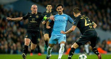 Manchester City alcanza a empatar 1-1 ante Celtic en la Champions League