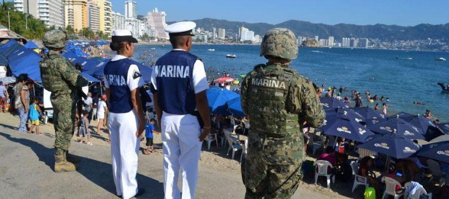 Marina y Armada despliegan 200 elementos en Acapulco para vigilancia turística