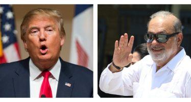Se reunieron Carlos Slim y Donald Trump; este calificó a Slim de ¡un gran tipo!
