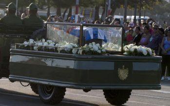 En su recorrido hacia Santiago de Cuba, cenizas de Fidel Castro llegan a Matanzas
