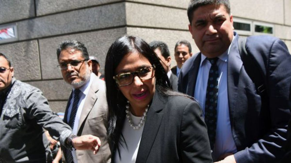 Delcy Rodríguez no pudo entrar a la reunión del Mercosur