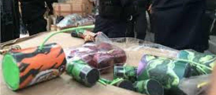 Policía decomisa 3.3 toneladas de fuegos pirotécnicos en la colonia Morelos