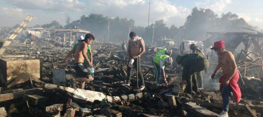 Se eleva a 35 el número de muertos por explosión en Tultepec