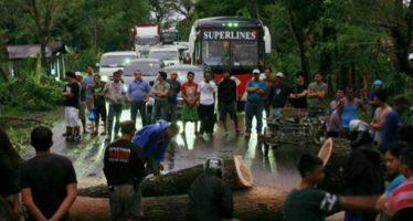 Tifón Nina deja siete personas muertas y 18 desaparecidas, en Filipinas