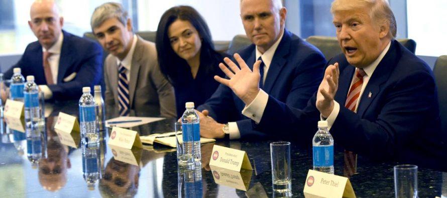 Se reunieron líderes de la industria tecnológica con Donald Trump