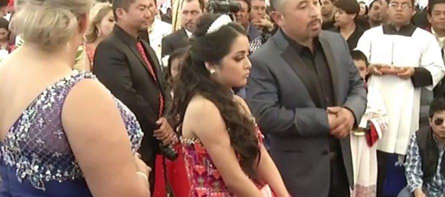 Ya fue la misa de los XV años de Rubí, los más famosos de México