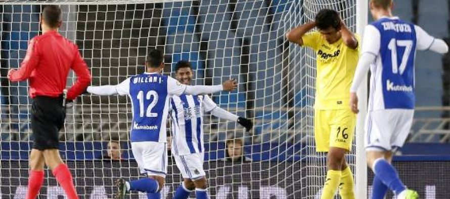 Real Sociedad vence 3-1 al Villarreal en octavos de final de la Copa del Rey