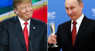 Trump deja ver posibilidad de reducción de armas con Rusia, en entrevista con el Times