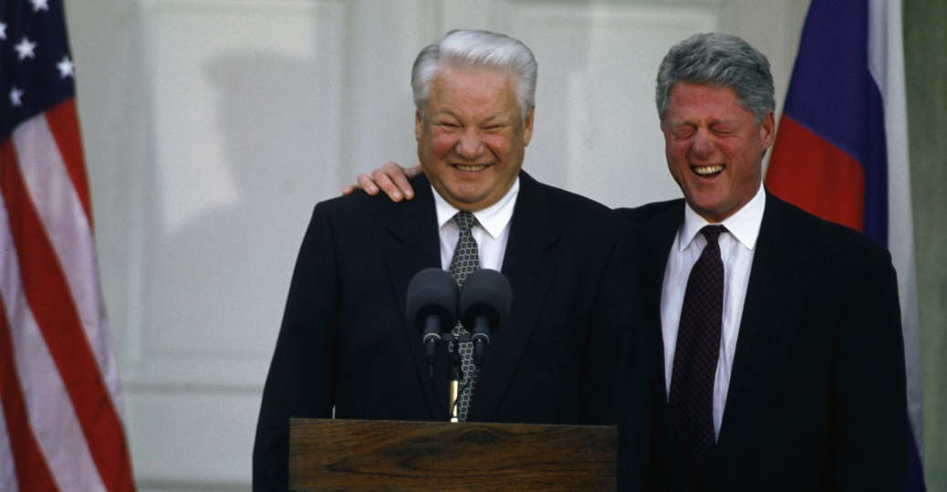 Boris Yeltsin y Bill Clinton