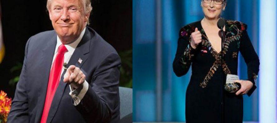 """Trump responde a Meryl Streep; le llama actriz """"sobrevalorada"""" y seguidora de Clinton"""