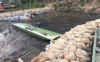 Anuncian reparación de grieta en Embarcadero Zacapa, en Xochimilco