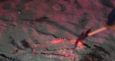 Material incandescente y piroclástico brota del subsuelo de municipio de Puebla
