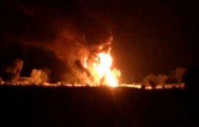Pemex controla incendio en ducto de Progreso de Juárez, Puebla