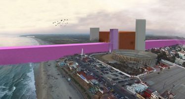 Arquitectos mexicanos idean muro rosa para Trump