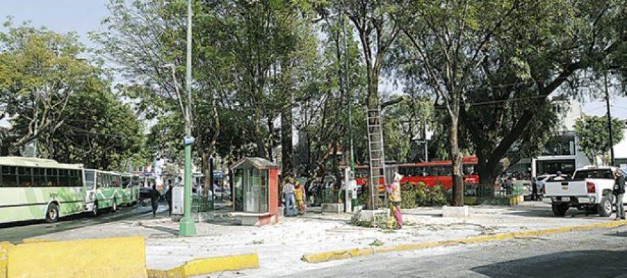 Liberan de puestos ambulantes el paradero de Doctor Gálvez