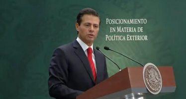Diálogo y negociación prevalecerán en relación con EU, dice en mensaje Peña Nieto