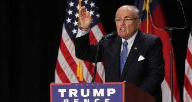 Rudolph Giuliani colaborará con Trump para luchar contra ciberataques